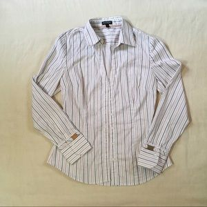 Express Striped Button Up Blouse Size S